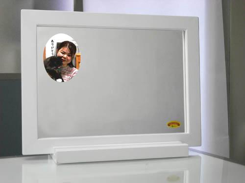 五井さん家族の写真入りミラー