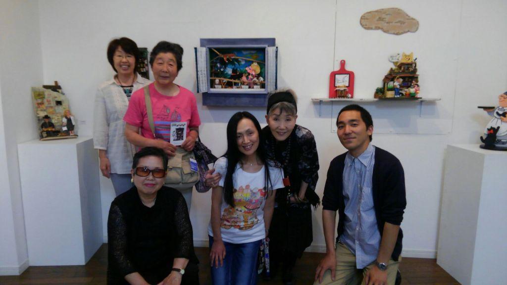 宍戸監督、則子さん、会場で出会った動物愛護家の方々と、久世さんに会えてハッピーデー♪